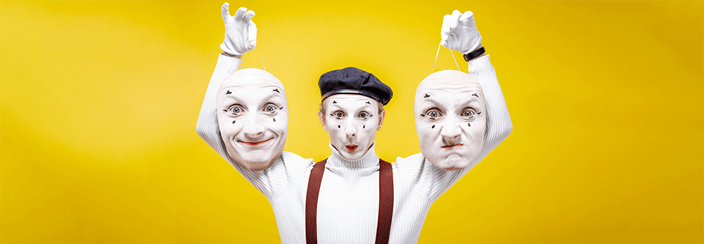 Mime different emotions