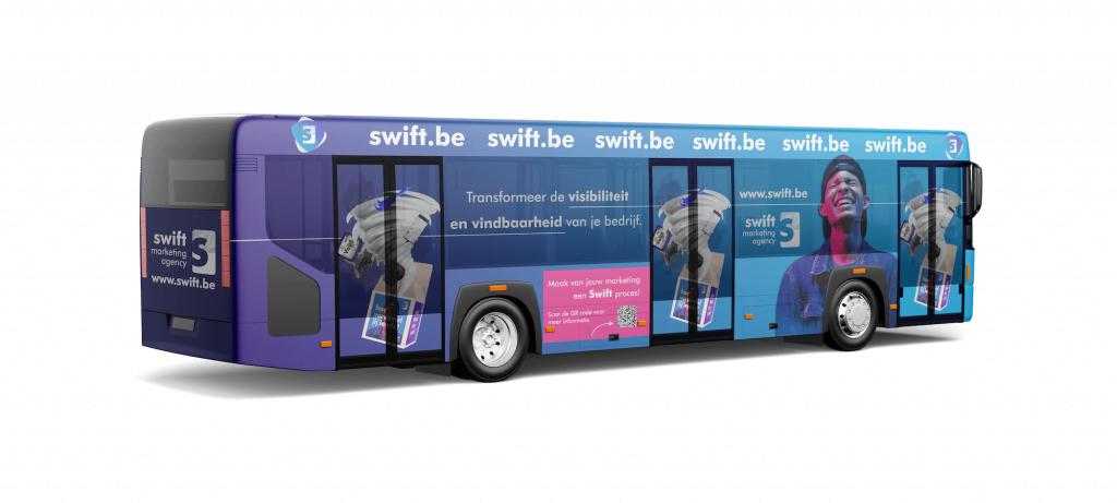 Advertentie op bus