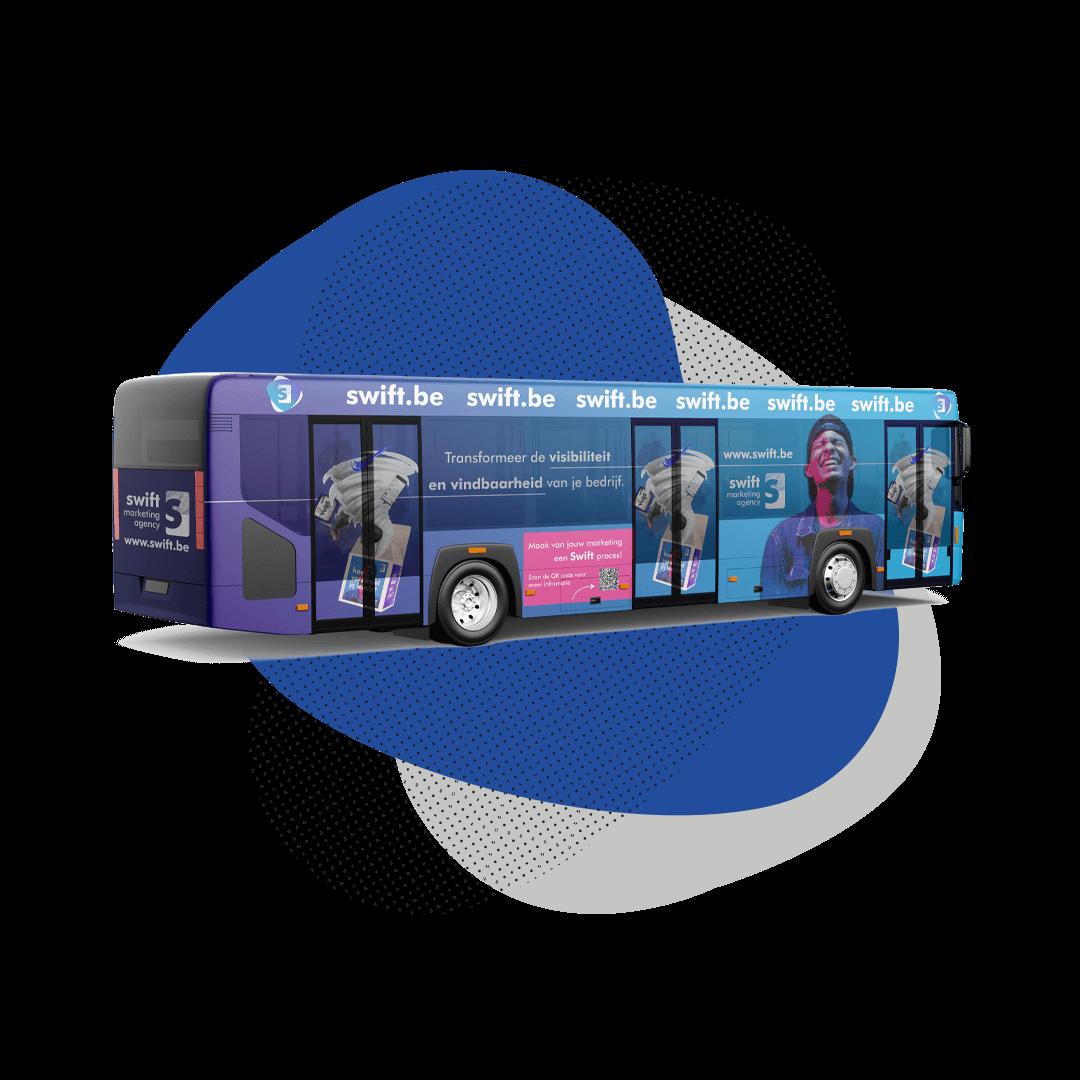 Advertentie tram bus