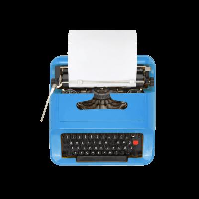 typewriter-blue